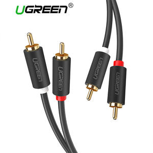 Ugreen 2RCA 2 m 3 m 5 m to 2 RCA Male to Male Audio Cable for Home Theater DVD TV