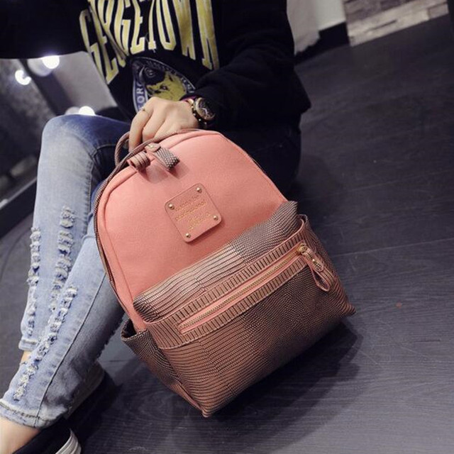PU Leather Backpacks  School Bag Style  High Quality