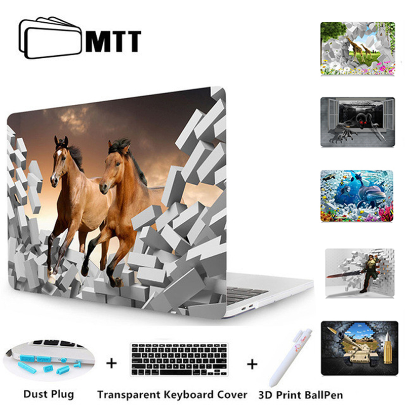MTT Laptop Case For Macbook Pro 13 15 Retina Touch Bar 3D Blasting Wall Hard Cover For Apple Mac book Air 11 12 13.3 15 Case for macbook new pro 13 15 touch bar laptop case for mac book air pro retina 12 13 15 creative lamp blackboard print hard cover