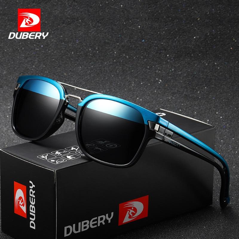 2019 DUBERY Brand Design Polarized Sunglasses Men Driver Shades Male Vintage Sun Glasses For Men Spuare Colorful Summer Oculos in Men 39 s Sunglasses from Apparel Accessories
