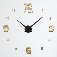DIY Large Wall Clock Simple Creative Digital Living Room Wall Watch Modern Design Home Decor Christmas