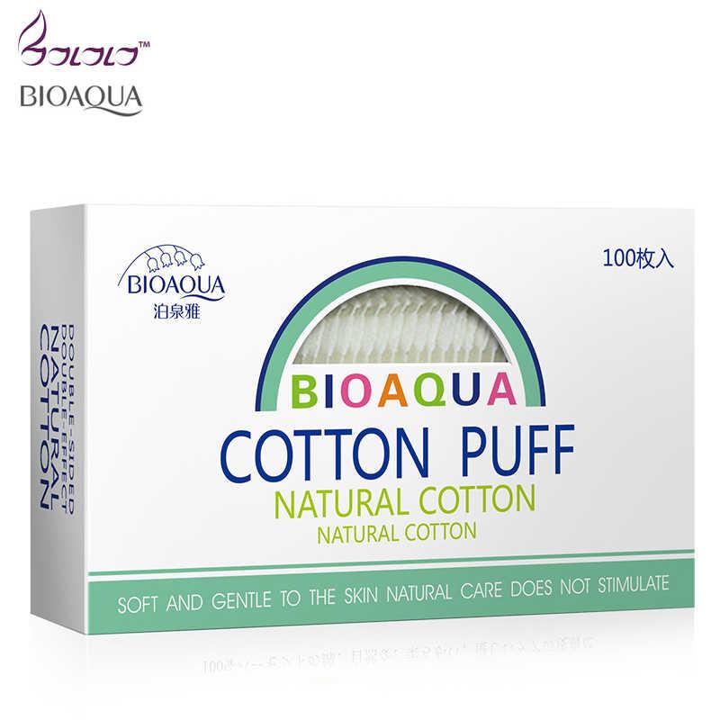 BIOAQUA 100 pcs trang điểm bông wipes trang điểm công cụ nail nail nail đánh bóng mặt mẹo loại bỏ chất lượng cao miếng bông lau bông mỹ phẩm