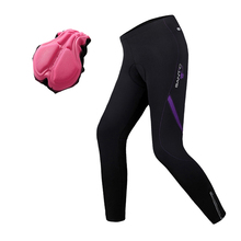 Santic Women's Winter Bicycle Cycling Pants Tight Bike Clothing Fleece Thermal Windproof Cycling Pant Tights S-XXL