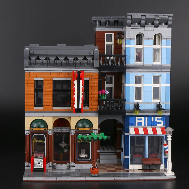 IN STOCK LELE 30008 15011 Detective office Street View Series Building Blocks 2262Pcs Compatible With 10246
