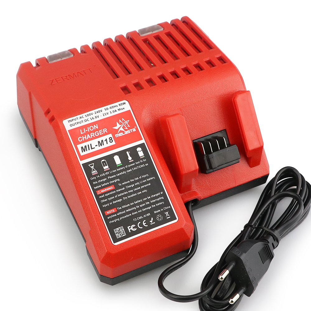 MELASTA Replacement Charger for Milwaukee M18 14.4V 18V Li-ion Battery 48-11-1815 48-11-1820 48-11-1840 48-11-1850 48-11-1828 power tool accessory lithium ion battery charger 14 4v 18v for milwaukee c18c c1418c 48 11 1815 1828 1840 m18 m14 serise parts