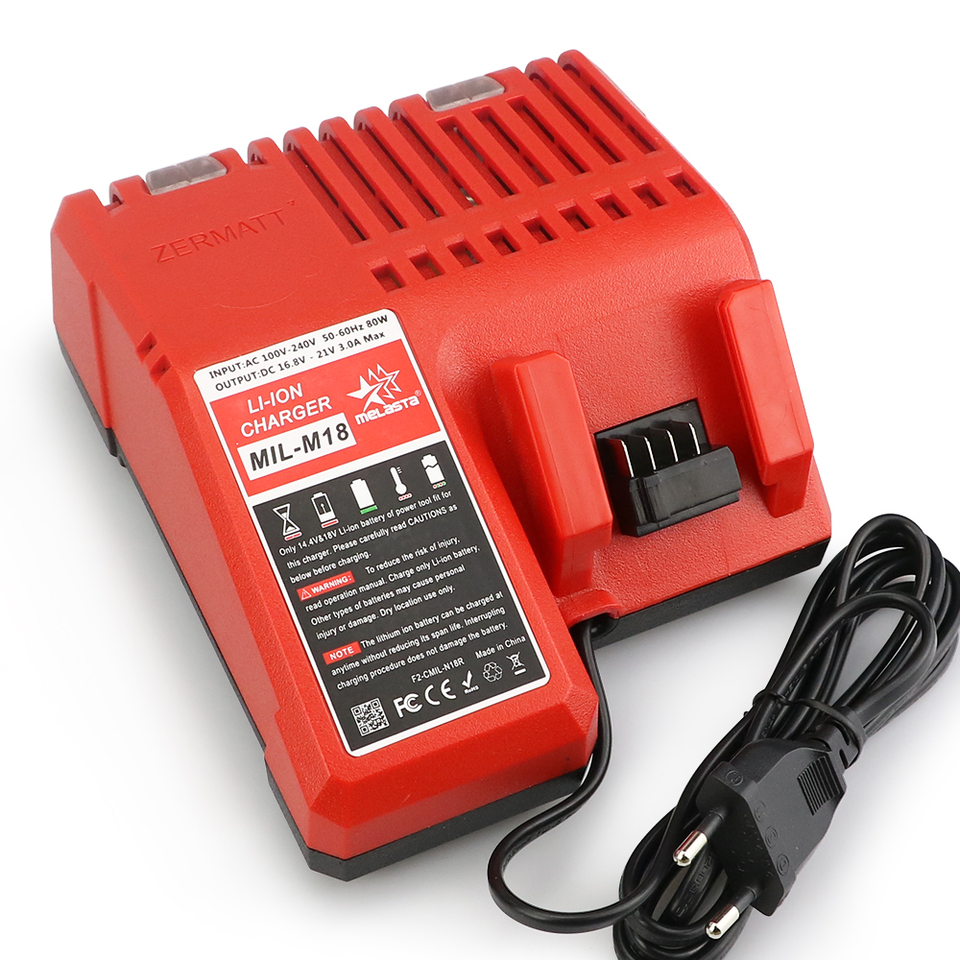 US $22.26 27% OFF|Melasta Replacement Charger for Milwaukee M18 14.4V 18V Li ion Battery 48 11 1815 48 11 1820 48 11 1840 48 11 1850 48 11