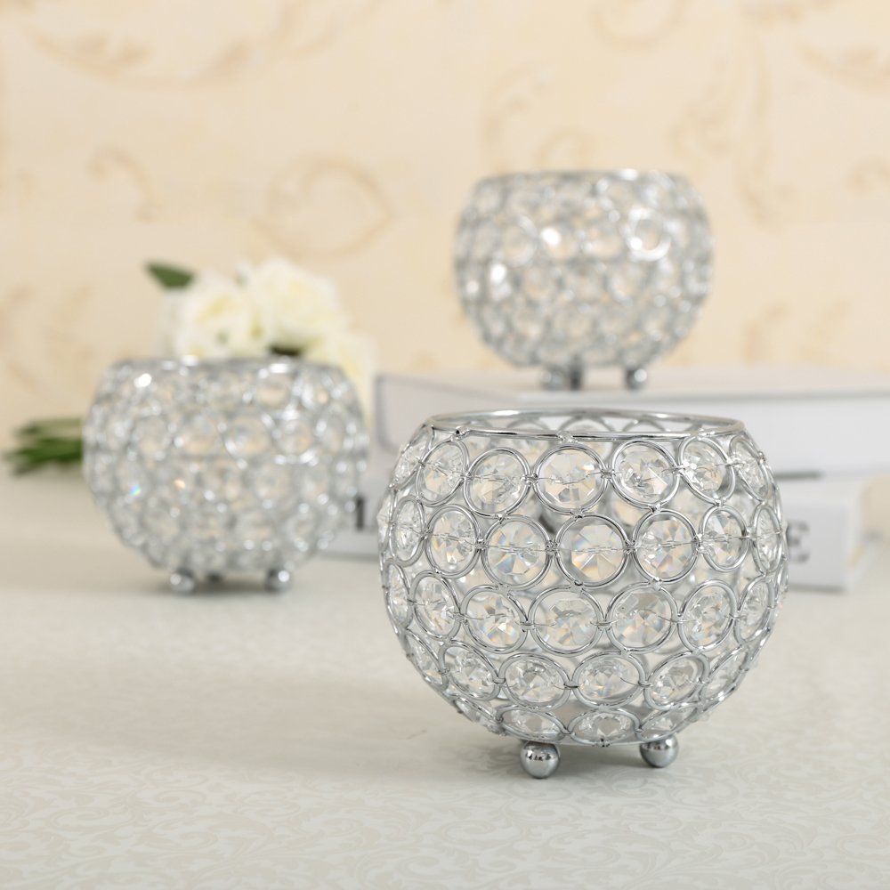 Crystal Tealight Candle Lantern Holders Glass Candlesticks Wedding Party Home Decoration Table Centerpieces for Mother's Gift(China)