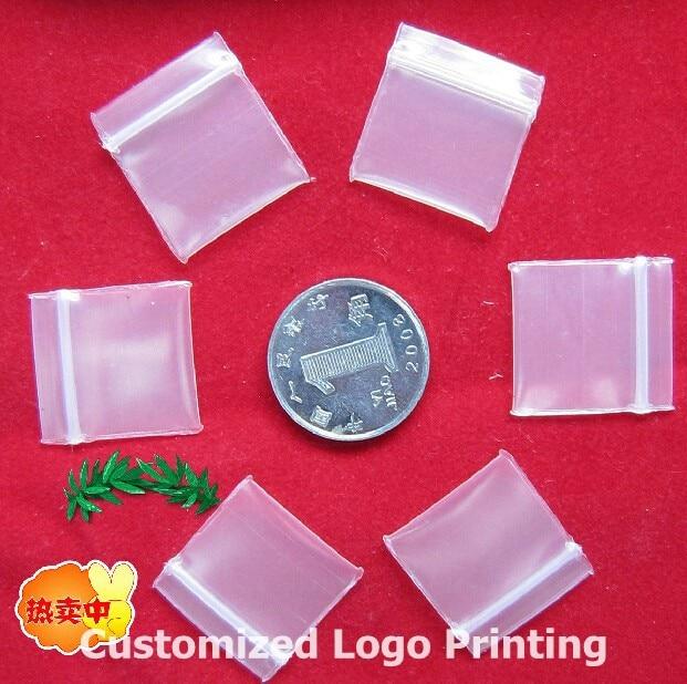 Hot 200pcs Clear Ziplock Powder Pill Earring Packaging Plastic Bag Reclosable Resealable Thick Zipped