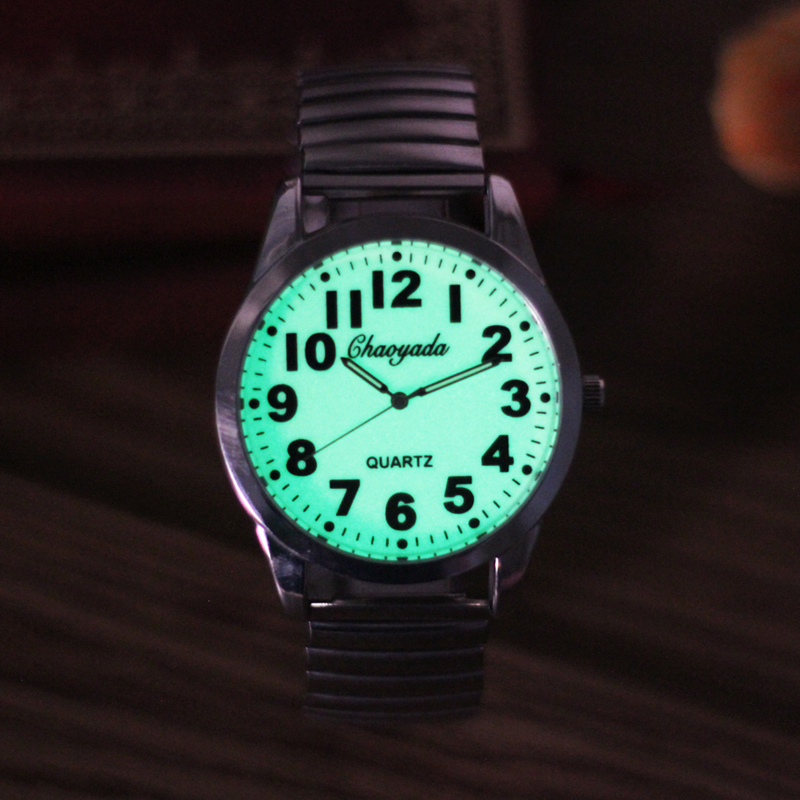 2019 New Top Brand Mens Male Flexible Elastic Strap Luminous Hands Face Watch Fashion Stainless Steel Electronic Wristwatches