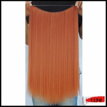 20″50g Synthetic Flip on Hair Extension Halo Mage Hair Extentions Haar Straight Weaving Japanese Fiber 119 Copper Red Color