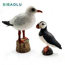 Artificial Seagull Puffin Sea bird Simulation Animal model PVC figurine home decor miniature fairy garden decoration accessories