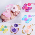 Baby Girl Costume Butterfly Wing+Headband Set Summer Photography Props Fashion Handmade Baby Photo props Accessories Shower Gift