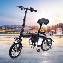 Mini Electric Bicycle Disc Brake Aluminum Alloy Folding Bike EU Plug10AH BATTERY NO TAX
