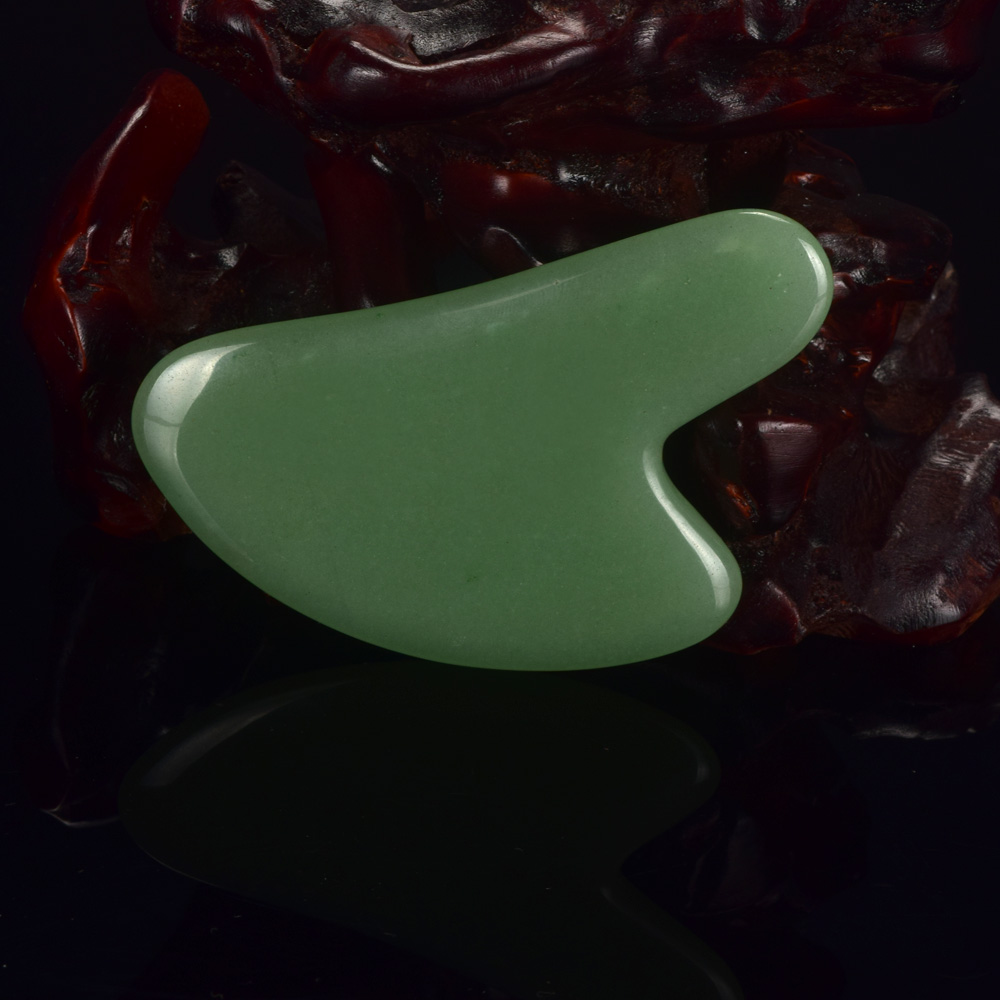 1pcs Natural Green Aventurine China Traditional Health Care Gua Sha SPA Acupuncture Scraper Massage Tool Face Back Foot Massage traditional acupuncture massage chinese gua sha tool jade stone gua sha board