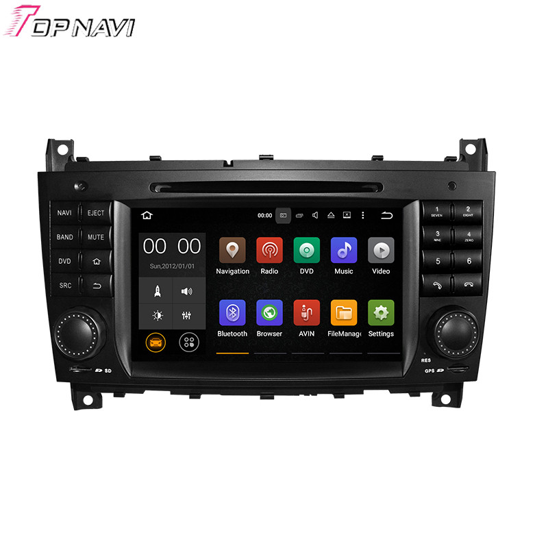 Quad Core Android 5.1.1 Car DVD Player Radio For C-Class W203 (2004-2007)/CLK W209(2004-2005) For Benz With GPS Stereo Audio