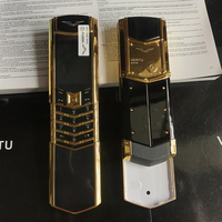 K9+ Signature Style Ceramics Quality No Camera Dual Sim Luxury Flip High Class Mobile Phone Russian Key