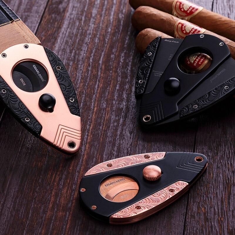 CIGARLOONG Cigar Cutter Sharp Blade Krupp Stainless Steel Portable Cigar Scissors CC-0017CIGARLOONG Cigar Cutter Sharp Blade Krupp Stainless Steel Portable Cigar Scissors CC-0017