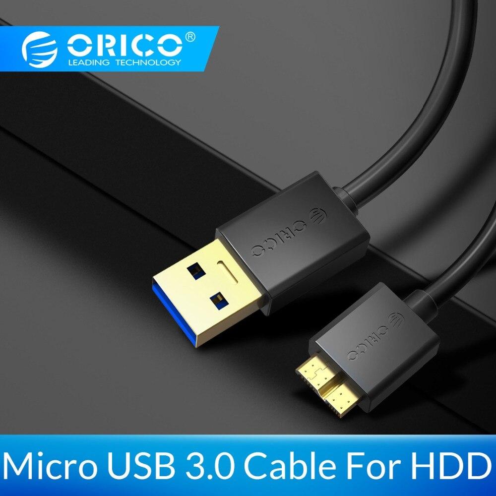 ORICO Micro B à USB 3.0 Type A câble de synchronisation de données pour 2.5 3.5 disque dur externe disque dur HDD Samsung S5 USB-C câble de disque dur