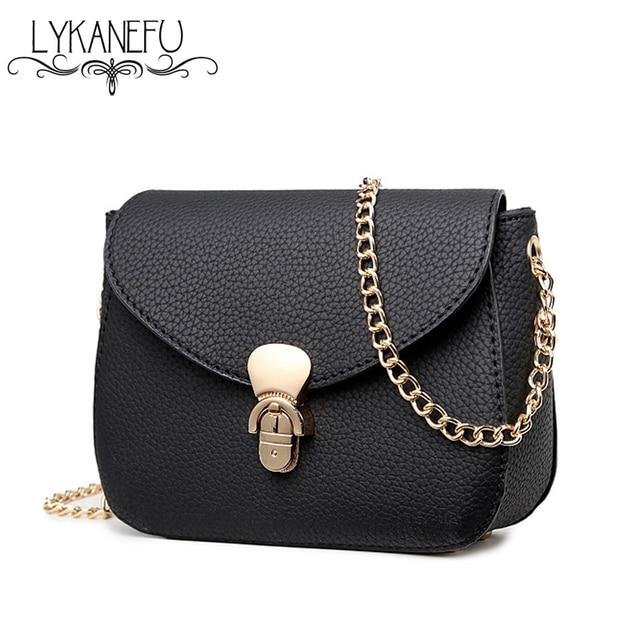 Aliexpress.com : Buy LYKANEFU 2016 Simple Women Messenger Bags ...