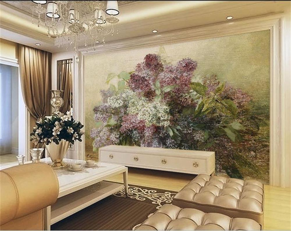 Custom 3D Photo Wallpaper Room Mural filled with flower basket European oil painting Sofa TV Background Wall Non-Woven Wallpaper free shipping european corridor wall painting background wallpaper hawaii non woven wallpaper mural