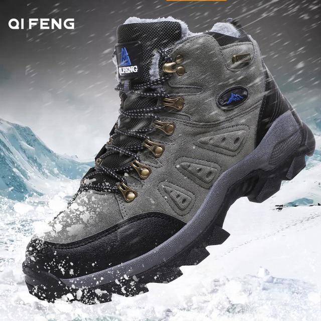 New arrival Pro-Mountain Outdoor Hiking Shoes For Men & Women,Add Fluff Hiking Boots,Walking,Warm Training Trekking Footwear