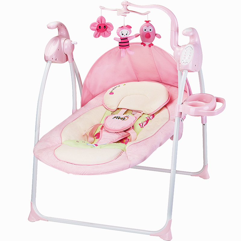 2017 Hot Sale New Arrival Character Ptbab Baby Rocking Chair Electric Child Cradle Bed Placarders Concentretor Chaise Lounge 2017 new babyruler portable baby cradle newborn light music rocking chair kid game swing