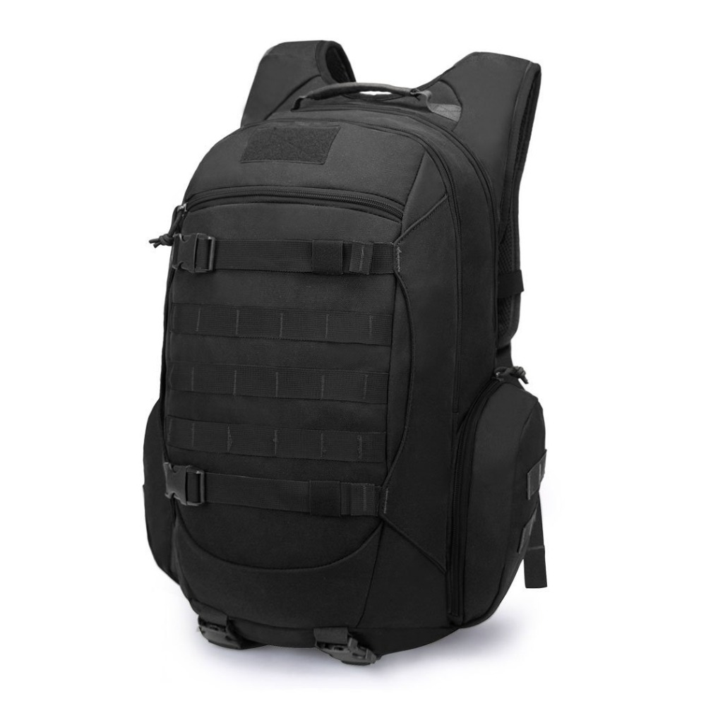 Mountaintop 35L Tactical Backpack Waterproof 600D Polyester Travel Military Molle Bag for Hunting Hiking, with Rain Cover 35l waterproof tactical backpack military multifunction high capacity hike camouflage travel backpack mochila molle system
