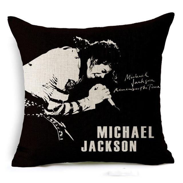Supper Star Michael Jackson Pillow Cover Cotten Linen Square Throw Cushion Pillow Case Office Home Pillow