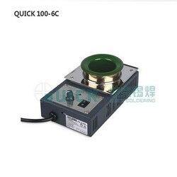 Oryginalny QUICK100-6C żelaza bezołowiowej cyny piec (400 W) piec do topienia cyny piec cyny