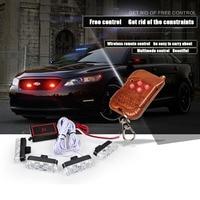 WTS 1 Set Car Head Warning Flashing Tyaper 4x3 LED Light Wireless Remote Automobiles Strobe DRL