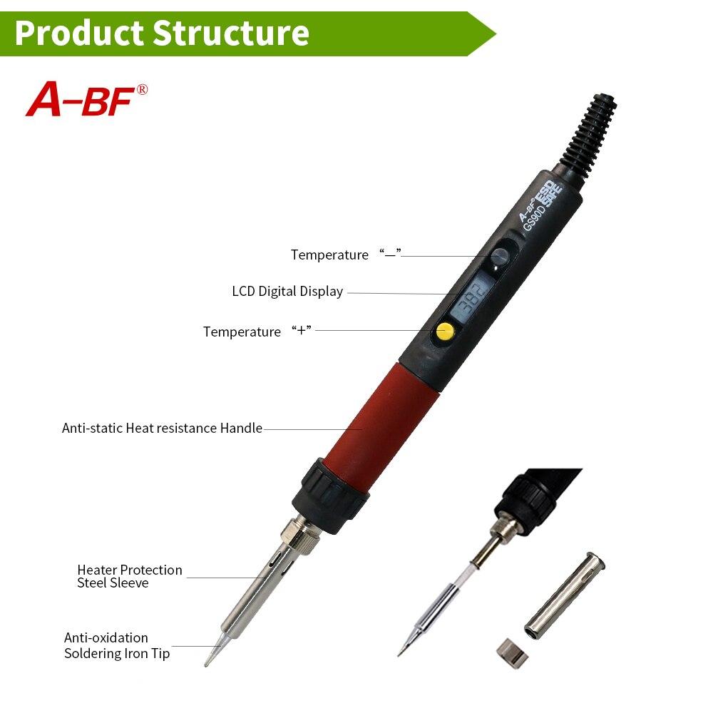 A-BF GS90D 90W 836D 60W 220V Soldador Temperatura ajustable LCD - Equipos de soldadura - foto 4