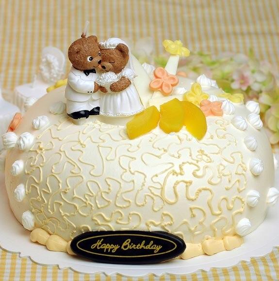 3D Wedding dress bear fondant Cake decoration mold candle mold ...