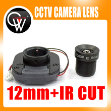 1080P IR 12mm lens + IR CUT Equipment M12 for Full HD CCTV Camera MTV Mount