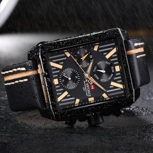 Image 5 - NAVIFORCE Men Fashion Creative Quartz Wrist Watch Sports Watches Top Brand Waterproof Leather Strap Clock Male Relogio Masculino