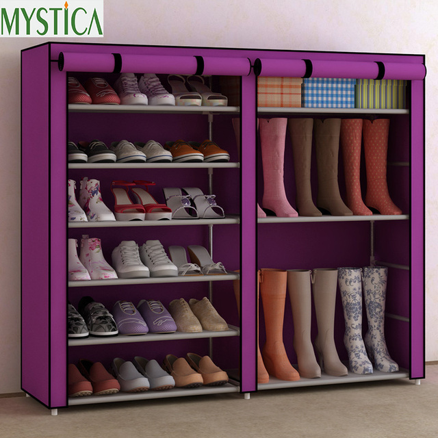 2018new Home Simple Large Capacity Storage Shoe Rack Dustproof Multilayer Shelf Cloth Organizer Cabinet