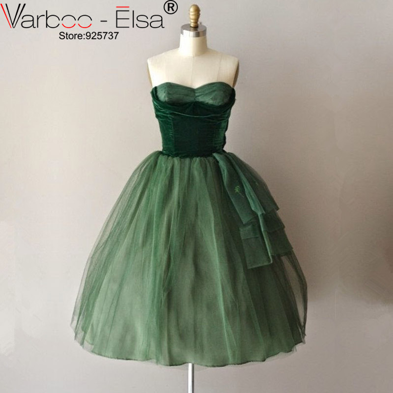 7590b1ef576a3 US $133.6 20% OFF|free shipping New Pleated Short Evening Dress A Line  Sweetheart Organza emerald green prom dress Prom Party Dresses-in Evening  ...