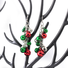 2018 New Arrival Colorful Bells Dangle Earrings for Women Green and Red Color Bells Fashion Earrings Jewelry For Christmas Gift
