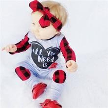 Г. Брендовый Осенний комбинезон с длинными рукавами для новорожденных мальчиков и девочек, костюм в клетку комбинезон с повязкой на голову, комплект одежды из 2 предметов, новая одежда