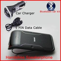 Автомобильный комплект с Bluetooth громкой связью, автомобильный солнцезащитный козырек, Беспроводная bluetooth Колонка для iPhone и т. Д. Телефон
