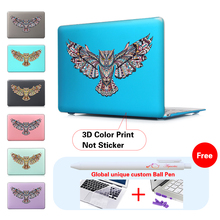 New Owl Print Hard Kristall Matte Hülle für MacBook Air 11 A1465/air 13 zoll A1466 pro 13,3 15 A1278 retina 13 A1502