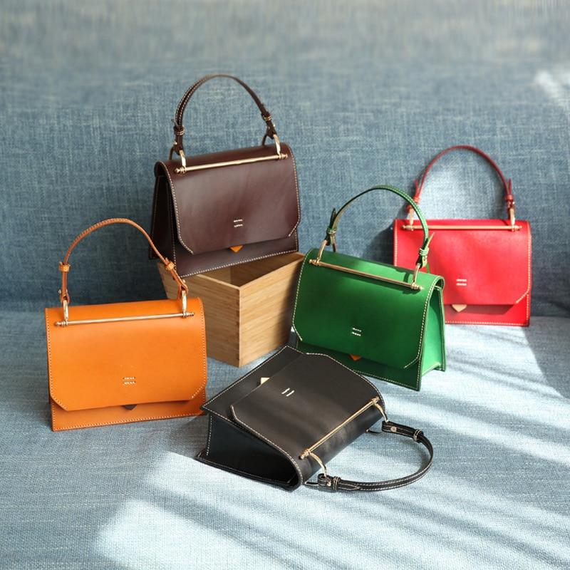 YIFANGZHE 2020 Genuine Leather Handbag  Women, High Fashion Leather Girls  Messenger /Crossbody Shoulder Bags Roomy Phone/wallet