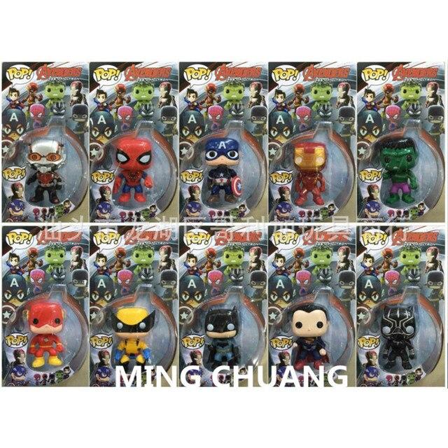 Infinito guerra Super-heróis vingadores Homem De Ferro Hulk Capitão América Homem-Aranha Batman Superman Pantera Negra Figura de Ação Brinquedo Q227