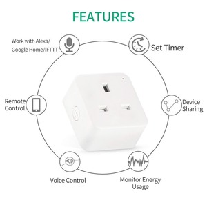 Image 2 - مقبس ذكي WiFi ، منفذ المملكة المتحدة ، تحكم لاسلكي ، طاقة 16 أمبير ، مراقبة الطاقة ، مؤقت ، مفتاح ، تحكم صوتي ، يعمل مع Alexa و Google
