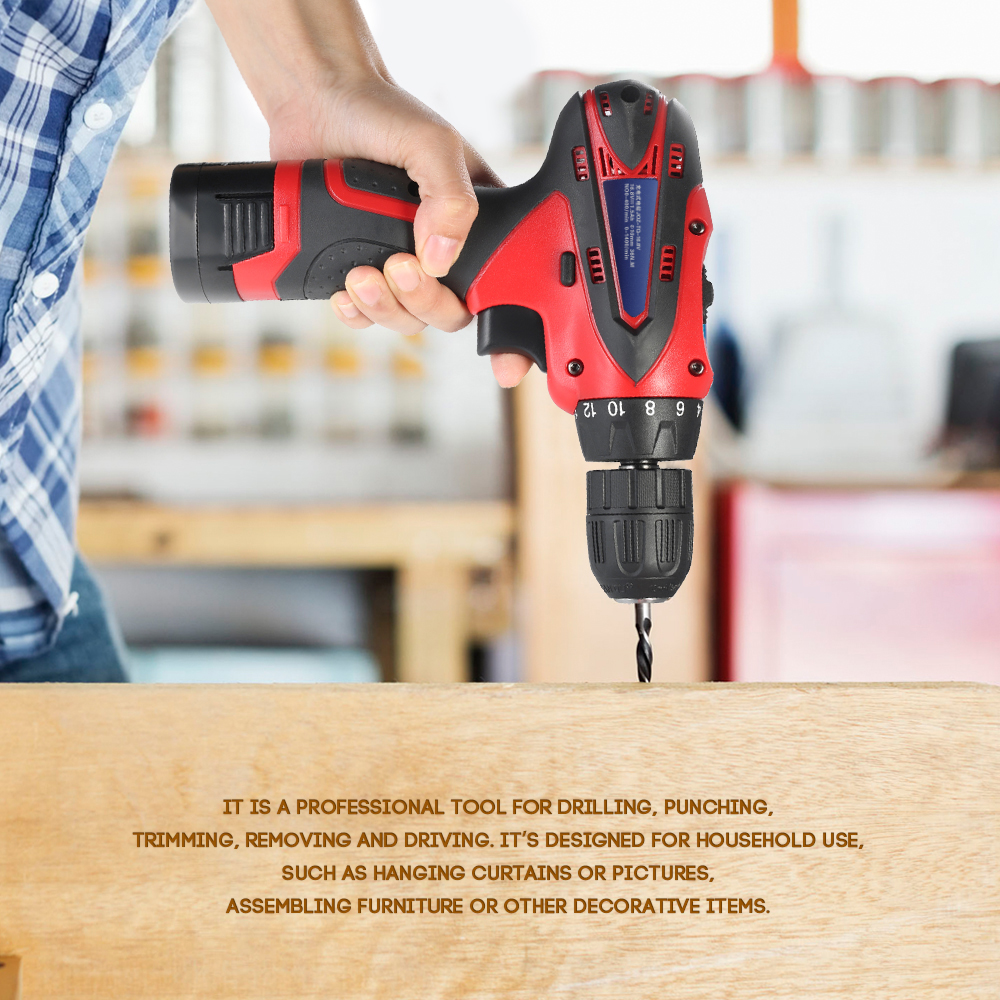 цена на 16.8V Lithium-Ion Two-speed power tools Multi-functional Electric drill dremel engraver Rechargeable Cordless Screwdriver Drill
