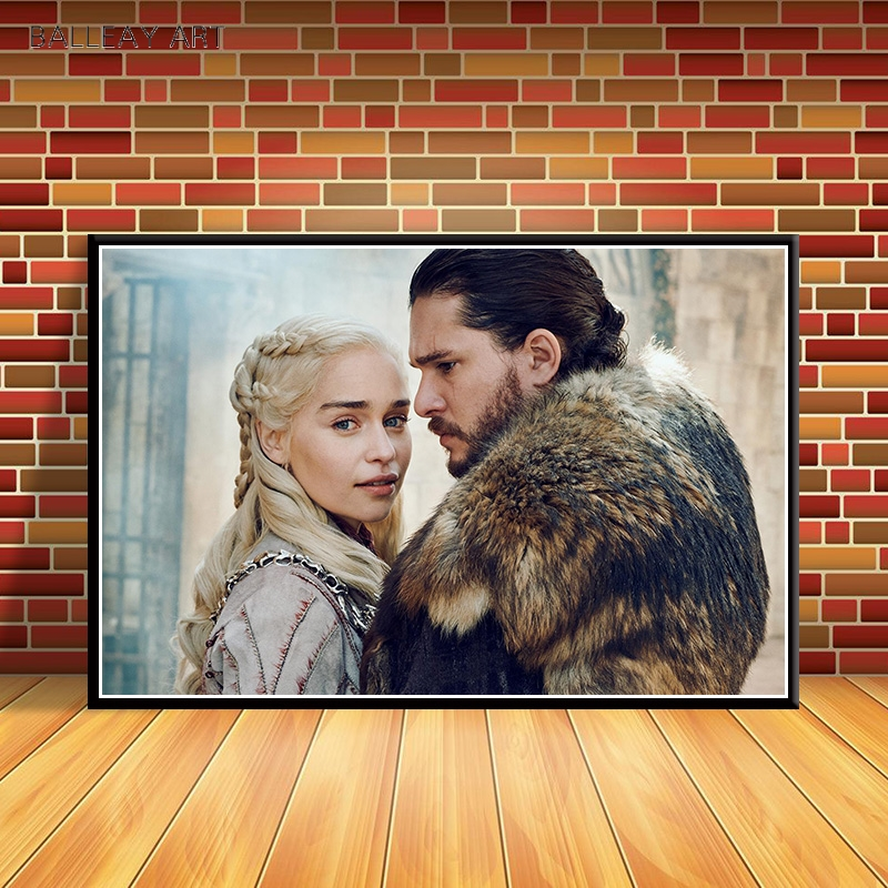 Game Of Thrones Poster Hot TV Series Wall Picture  Wall Art Decor Silk Poster Print Daenerys Targaryen Wall Decorative Painting