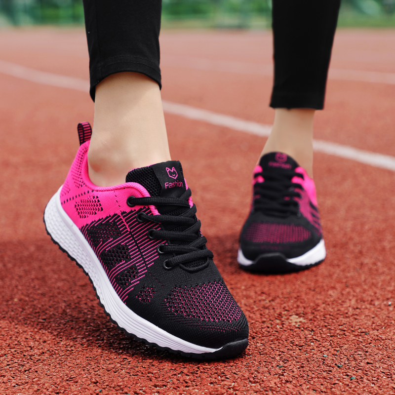 ZHENZU Women's Sport Shoes Female Brand Sneakers Woman Running Shoes Breathable Antislip Light Flats