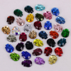 Free Shipping! High Quality 8x10mm Mixed Colors Skull Flat Back Hotfix Rhinestones / Iron On Flat Back Crystals