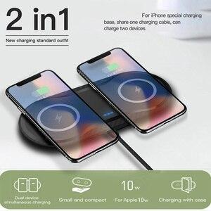 Image 2 - 20W için hızlı şarj Dock İstasyonu Samsung S20 S10 S9 10W çift Qi kablosuz şarj Pad için Apple iPhone 11 XS XR X 8 Airpods Pro
