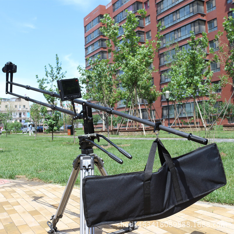 professional carbon fiber camera crane jib arm for dslr camera and  camcorders Portable camera accessories flexible rocker CD50 professional dv camera crane jib 3m 6m 19 ft square for video camera filming with 2 axis motorized head