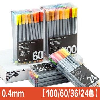 0,4 цвет тонкий вкладыш ручка набор микрон Эскиз Маркер Цветной 100 мм цвет ing для Manga Art школа иглы рисунок Эскиз Маркер комиксы